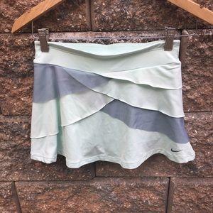 Niki Mini Mesh Layered Ruffle Mini Skirt Scallop